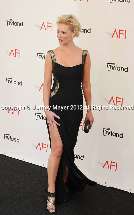 LOS ANGELES, CA - JUNE 07: Katherine Heigl arrives at the 40th AFI Life Achievement Award honoring Shirley MacLaine at Sony Pictures Studios on June 7, 2012 in Los Angeles, California.