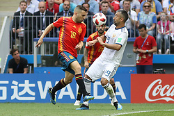 July 1, 2018 - Moscou, Rússia - MOSCOU, MO - 01.07.2018: SPAIN VS RUSSIA - Jordi Alba and Samedov during the match between Spain and Russia, valid for the eighth round of the 2018 World Cup held at the Luzhniki Stadium in Moscow, Russia. (Credit Image: © Ricardo Moreira/Fotoarena via ZUMA Press)