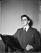1953 - Proinsias Mac Cana M.A. lectures at Newman House.