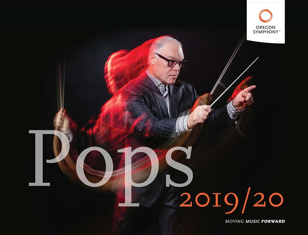Oregon Symphony 2019/20 season brochure featuring Jeff Tyzik.
