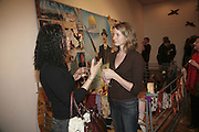 Sooz Belnavis-Abbott and Helena Merriman. Misadventure In the Middle East. Travels As a Tramp, Artist and Spy by Henry Hemming. Book launch and exhibition. Paradise Row. London. E2.  -DO NOT ARCHIVE-© Copyright Photograph by Dafydd Jones. 248 Clapham Rd. London SW9 0PZ. Tel 0207 820 0771. www.dafjones.com.