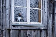 VILDMARKSVÄGEN JULI 2020<br /> En liten dock-gumma sitter och kikar i fönstret i ett av husen i Fatmomakke.<br /> Foto: Per Danielsson/Projekt.P
