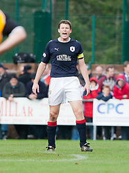 Falkirk's Darren Dods..Annan Athletic 0 v 3 Falkirk. Semi Final of the Ramsdens Cup, 9/10/2011..Pic © Michael Schofield.