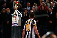Delusione Alessandro del Piero Juventus<br /> Roma 20/05/2012 Stadio Olimpico<br /> Football Calcio 2011/2012 Tim Cup<br /> Finale Final<br /> Juventus vs Napoli<br /> Foto Insidefoto Paolo Nucci