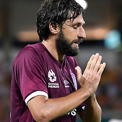 BRISBANE, AUSTRALIA - NOVEMBER 19: Thomas Broich of the Roar reacts during the round 7 Hyundai A-League match between the Brisbane Roar and Sydney FC at Suncorp Stadium on November 19, 2016 in Brisbane, Australia. (Photo by Patrick Kearney/Brisbane Roar)