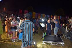 Latitude Festival, Henham Park, Suffolk, UK July 2019. Signer during Underworld set