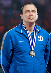 Coach of Dinamo Jurij Cherednik at final ceremony after the  final match of CEV Indesit Champions League FINAL FOUR tournament between Dinamo Moscow, RUS and Trentino BetClic, ITA on May 2, 2010, at Arena Atlas, Lodz, Poland. Trentino defeated Dinamo 3-0 and became Winner of the Champions League. (Photo by Vid Ponikvar / Sportida)