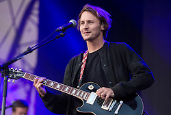 © Licensed to London News Pictures. 19/07/2015. City, UK. English singer-songwriter Ben Howard plays in the Main Stage at Citadel, a new one-day festival at Victoria Park, east London, created by the award-winning Wilderness Festival and Superfly headlined by Ben Howard and Bombay Bicycle Club. Photo credit: LNP