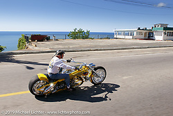 Arlen Ness riding in Puerto Rico during the filming of their Biker Build-off against Roland Sands. Photograph ©2004 Michael Lichter