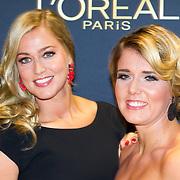 NLD/Amsterdam/20151015 - Televizier gala 2015, Liza Smit en schoonzus Jenny Smit
