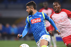 March 7, 2019 - Naples, Naples, Italy - Lorenzo Insigne of SSC Napoli during the UEFA Europa League match between SSC Napoli and RB Salzburg at Stadio San Paolo Naples Italy on 7 March 2019. (Credit Image: © Franco Romano/NurPhoto via ZUMA Press)