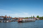 """Henley on Thames. United Kingdom. View of the paddle boat  """"New Orleans"""". moves, away from Henley Road Bridge. Thursday  17/05/2018<br /> <br /> [Mandatory Credit: Peter SPURRIER:Intersport Images]<br /> <br /> LEICA CAMERA AG  LEICA Q (Typ 116)  f5  1/1000sec  35mm  42.5MB"""