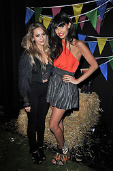 Left to right, ZARA MARTIN and JAMEELA JAMIL at a party to celebrate the global launch of the Iconic Brazilian lifestyle brand Havaianas Wellies range held at Selfridges, Oxford Street, London on 14th April 2011.