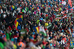 Fans during the 7th Ladies' Slalom of Audi FIS Ski World Cup 2016/17, on January 10, 2017 at the Hermann Maier Weltcupstrecke in Flachau, Austria. Photo by Martin Metelko / Sportida