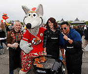 KC Wolf and participants along with Smithfield set the Guinness World Records title for Largest grilling lesson on Thursday, April 27, 2017, in Kansas City, Mo. Photos by Colin E. Braley for Smithfield