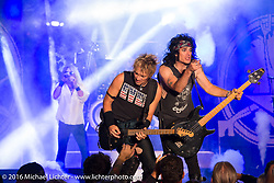 Hairball performs at the Harley-Davidson Museum for the kickoff of the Milwaukee Rally. Milwaukee, WI, USA. Thursday, September 1, 2016. Photography ©2016 Michael Lichter.