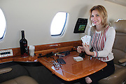 Travel bloggers, Gilbert Ott, 29 and Laura Burns, 28 have had a taste of the high life. The couple managed to score themselves a free 80-minute flight on a private jet.<br />  <br /> The one-way flight from Boston to Washington DC, should have cost the couple around $1,500 USD, but they didnt pay a dime. Ott, a New Yorker and founder of the website godsavethepoints.com and Burns, originally from London combined online vouchers that covered the entire cost of last Wednesdays flight on board a Cessna Citation X aircraft, which costs $23million USD brand new.<br />  <br /> The savvy couple downloaded the JetSmarter app the Uber for private jets, according to Ott and carefully monitored the promo codes.<br />  <br /> We found a $500 and a $1000 code, which were intended for people who would become members of their $12,000 a year private jet subscription, offering unlimited private jet flights, but we did not join and managed to use our $1500 credit for a free flight all by ourselves says Ott.<br />  <br /> The couple revelled in their experience on the jet, loving every minute of it. There was no security, no lines, no stress and no check in hours before the flight. The couple played poker, drank their own bottle of wine they were allowed to bring on-board and took advantage of the wifi.<br />  <br /> We felt like rock stars, but we are just normal nobodies,says Ott.<br />  <br /> Website, godsavesthepoints.com is a platform used to elevate peoples travel experiences. Ott believes there are lots of amazing opportunities out there for people to find deals, not always on private jets, but all kinds of deals on hotel, flights, travel and experiences, just by being plugged in.<br /> ©Exclusivepix Media