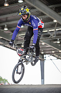 #100 (MAHIEU Romain) FRA at Round 6 of the 2019 UCI BMX Supercross World Cup in Saint-Quentin-En-Yvelines, France