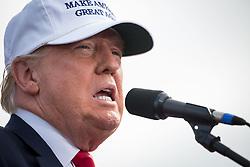 October 12, 2016 - Florida, U.S. - LOREN ELLIOTT       Times .Republican presidential nominee Donald Trump speaks during a rally at Lakeland Linder Regional Airport in Lakeland, Fla., on Wednesday, Oct. 12, 2016. (Credit Image: © Loren Elliott/Tampa Bay Times via ZUMA Wire)