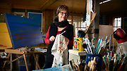 Sara Hourez, Artist, in her Kangaroo Island studio.