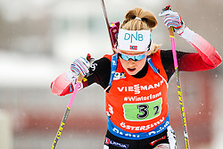 March 16, 2019 - –Stersund, Sweden - 190316 Synnøve Solemdal of Norway  competes in the Women's 4x6 km Relay during the IBU World Championships Biathlon on March 16, 2019 in Östersund..Photo: Johan Axelsson / BILDBYRÃ…N / Cop 245 (Credit Image: © Johan Axelsson/Bildbyran via ZUMA Press)