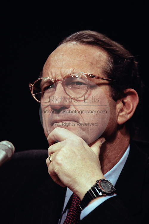Deputy Secretary of Defense John Deutch during the confirmation hearing for his nomination as Director of the CIA April 26, 1995 in Washington, DC.