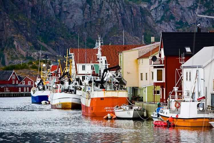 Norway, Henningsvaer, Henningsvær
