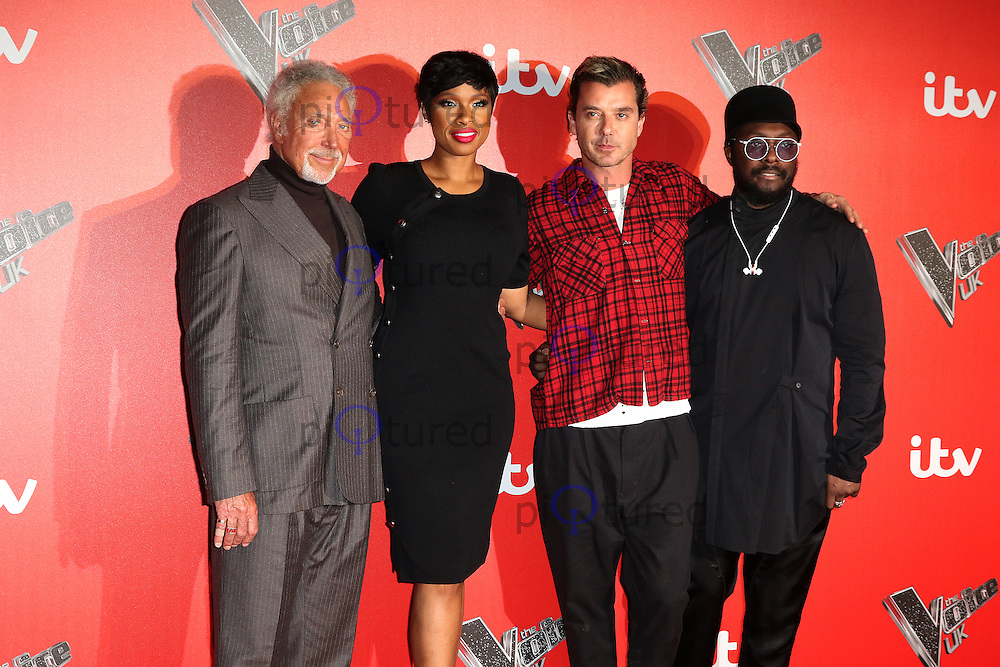 Tom Jones, Jennifer Hudson, Gavin Rossdale, will.i.am, The Voice UK - Press Launch, Millbank Tower, London UK, 04 January 2017, Photo by Richard Goldschmidt