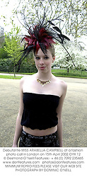 Debutante MISS ARABELLA CAMPBELL at a fashion photo call in London on 15th April 2002.OYX 12