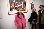 DIONNE BROMFIELD; ( POP SINGER- AMY WINEHOUSE GOD-DAUGHTER). Exhibition of Gerald Laing Graphics. Opening of the Morton Metropolis Gallery. Hosted by Serena Morton and Raye Cosbert.  London. 10 February 2010