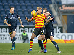 Partick Thistle's Jai Quitongo and Falkirk's Lewis Kidd. Falkirk 1 v 1 Partick Thistle, Scottish Championship game played 17/11/2018 at The Falkirk Stadium.