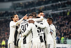 March 8, 2019 - Turin, Piedmont/Turin, Italy - Juventus celebrates during the Seria A Football Match: Juventus vs Udinese. Juventus won 4-1 at Allianz Stadium in Turin 8th march 2019 (Credit Image: © Alberto Gandolfo/Pacific Press via ZUMA Wire)