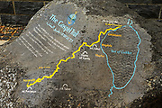 A Map of the Gospel Trail from Nazareth to Capernaum at Capernaum Sea of Galilee, Israel