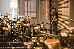 The Harley-Davidson Museum before the Mama Tried Show. Milwaukee, WI. USA. Friday February 23, 2018. Photography ©2018 Michael Lichter.