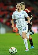 Toni Duggan of England Women is chased by Annike Krahn of Germany Women<br /> - Womens International Football - England vs Germany - Wembley Stadium - London, England - 23rdNovember 2014  - Picture Robin Parker/Sportimage