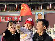 BEIJING, CHINA - MARCH 03: (CHINA OUT) <br /> <br /> China To End One-Child Policy<br /> <br /> Grandparents and their grandson are pictured at the Tiananmen Square on March 3, 2013 in Beijing, China. China has decided to abandon its 35-year-old one-child policy, allowing all couples to have two children, the Communist Party of China (CPC) announced after a key meeting on Thursday. ©Exclusivepix Media