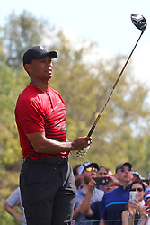 March 11, 2018 - Palm Harbor, FL, U.S. - PALM HARBOR, FL - MARCH 11: Tiger Woods tees off the 9th hole during the final round of the Valspar Championship on March 11, 2018, at Westin Innisbrook-Copperhead Course in Palm Harbor, FL. (Photo by Cliff Welch/Icon Sportswire) (Credit Image: © Cliff Welch/Icon SMI via ZUMA Press)