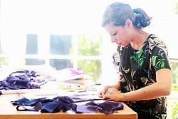 Aug. 6, 2014 - Designer at work in studio (Credit Image: © Image Source/Image Source/ZUMAPRESS.com)