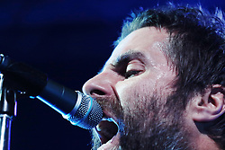 Former Oasis frontman, singer Liam Gallagher performs an exellent gig in a sold out Fabrique club in Milano, Italy. Audience very warm and Liam grateful, speaking with fans from the stage. New look and new state of grace?. 26 Feb 2018 Pictured: Liam Gallagher. Photo credit: Bruno Marzi / MEGA TheMegaAgency.com +1 888 505 6342