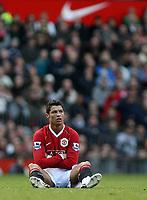 Photo: Paul Thomas.<br /> Manchester United v Manchester City. The Barclays Premiership. 09/12/2006.<br /> <br /> Cristiano Ronaldo of Man Utd is un-happy.