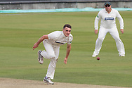 Gavin Griffiths bowling during the Specsavers County Champ Div 2 match between Durham County Cricket Club and Leicestershire County Cricket Club at the Emirates Durham ICG Ground, Chester-le-Street, United Kingdom on 18 August 2019.