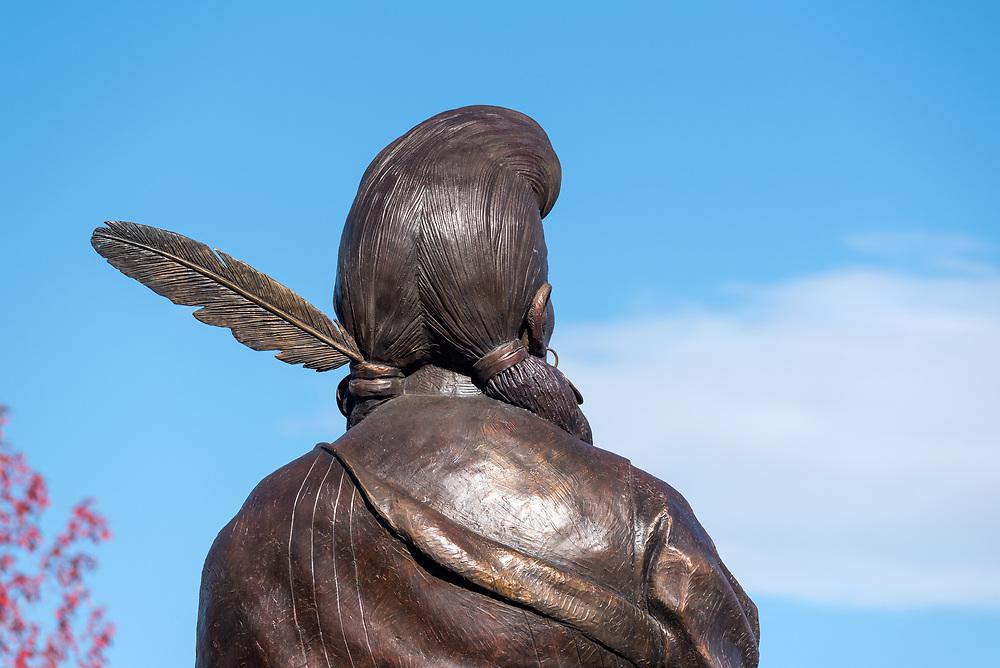 Chief Joseph bronze statue, by Georgia Bunn, Joseph, Oregon.