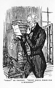 Robert Louis Stevenson 'The Strange Case of Dr Jekyll and Mr Hyde' first published 1886. Mr Utterson, reading Hyde's letter to Jekyll, realising that the handwriting of the two is the same. Illustration by Edmund J. Sullivan from an edition published 1928.