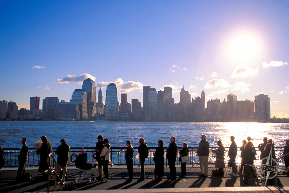 Jersey City Ferry Line just after 9/11