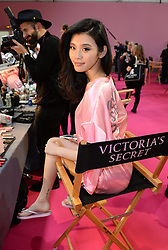Ming Xi backstage during the Victoria's Secret Fashion Show 2016 held at The Grand Palais, Paris, France