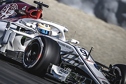 March 6, 2018 - Barcelona, Catalonia, Spain - MARCUS ERICSSON (SWE) drives in his Alfa Romeo Sauber C37 during day five of Formula One testing at Circuit de Catalunya (Credit Image: © Matthias Oesterle via ZUMA Wire)