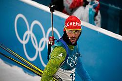 Jakov FAK of Slovenia competes in men's 10 km Sprint at PyeongChang (KOR)