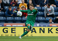 Chris Maxwell of Preston North End during the EFL Sky Bet Championship match between Preston North End and Millwall at Deepdale, Preston, England on 23 September 2017. Photo by Paul Thompson.
