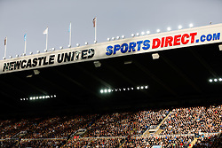 A general view inside the stadium as dappled sunlight falls on the crowd - Photo mandatory by-line: Rogan Thomson/JMP - 07966 386802 -01/11/2014 - SPORT - FOOTBALL - Newcastle, England - St James' Park - Newcastle United v Liverpool - Barclays Premier League.