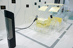 Model of electric car system in the Volkswagen eLAB at the Frankfurt Motor Show 2009